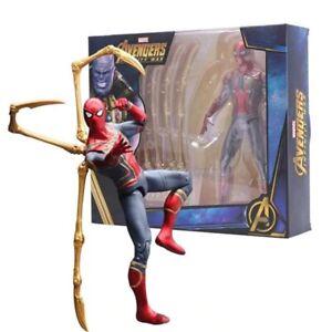 18cm-Marvel-Avengers-Infinity-Krieg-Iron-Man-Spiderman-Action-Figur-Modell-Junge-Spielzeug