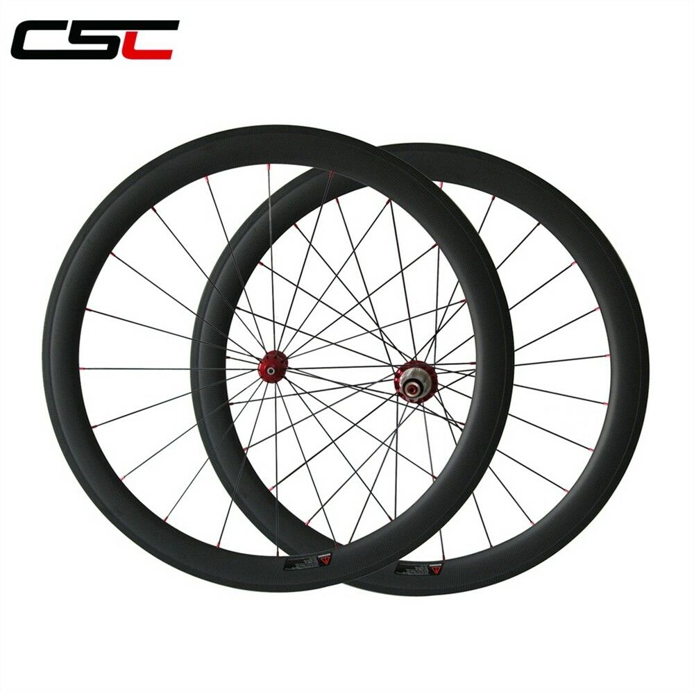 CSC Straight Pull Carbon hub 50mm Clincher carbon bicycle road wheelset 1390g