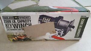 2500 lb atv utility electric winch with wireless remote control