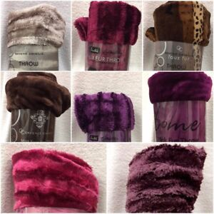 Faux Fur Throws Super Soft luxury Clearance Mega Sale Clearance 60/% off