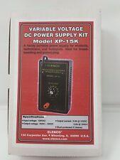 Elenco Variable Voltage Dc Power Supply Kit Model Xp 15k