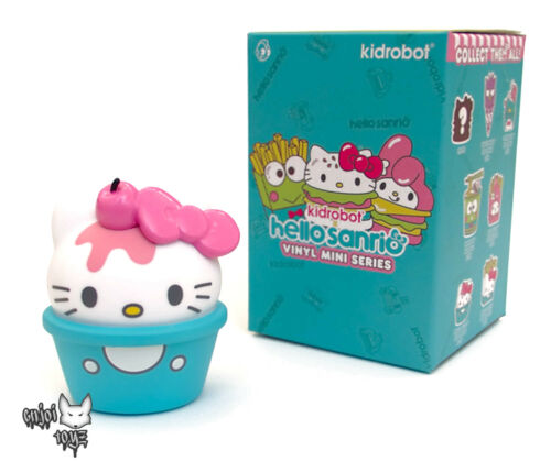 "3/"" Figure New Hello Sanrio Mini Series x Kidrobot Hello Kitty Ice Cream"