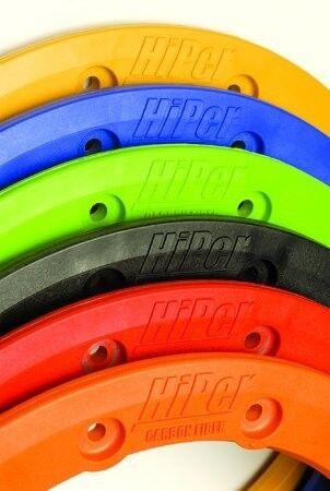 "Hiper Racing CF1 Tech 3 Rear Replacement 9 Inch 9/"" Beadlock Wheel Ring Red"