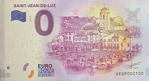 BILLET-0-EURO-SAINT-JEAN-DE-LUZ-FRANCE-2017-NUMERO-100