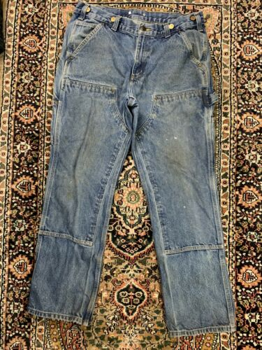 Vtg Carhartt Double Knee Work Pants Size 33x30 Wor