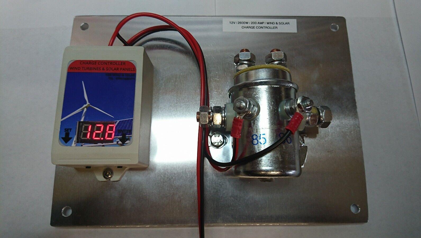 SOLAR / WIND TURBINE CHARGE CONTROLLER 12V,  200 AMP (2600 watts)