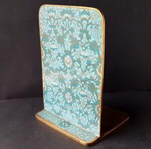 Seltener-Book-Stand-Bookend-Cloisonne-Enamel-Brass-Um-6233-7-12ft191
