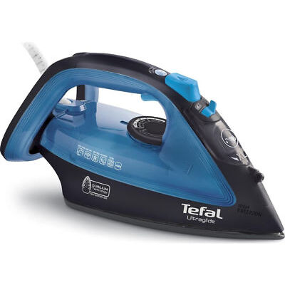 TEFAL Ultraglide FV4043 Steam Iron - Black & Blue - Currys