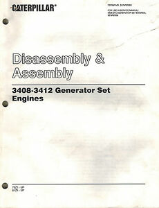 caterpillar 3408 3412 gen set engines disassembly assembly rh ebay com Caterpillar 3412 Fuel Tanks caterpillar 3412c service manual