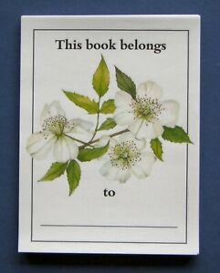 Vintage-1980s-National-Trust-gummed-bookplates-31-floral-in-packet