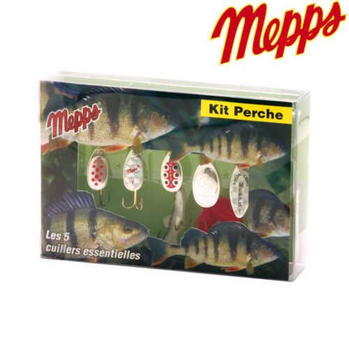 Mepps Kit Barsch 5 Stk Spinnersortiment Kunstköder Raubfischköder Barschköder