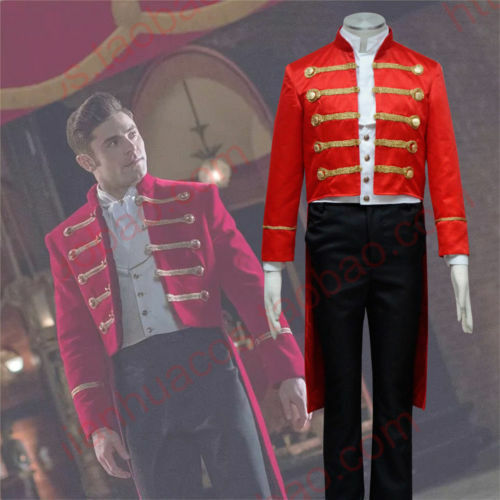 The Greatest Showman Phillip Carlyle red outfit cosplay cos