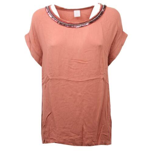 Maglia Marrone Pinko Donna Bruciato shirt C4506 Tag T Woman TpPxwqPZd