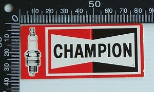 VINTAGE-CHAMPION-SPARK-PLUGS-RACING-SPONSOR-CAR-ADVERTISING-PROMO-STICKER