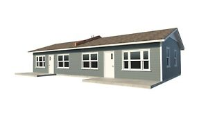 One-Story-Duplex-House-Plans-DIY-1-Bedroom-Tiny-Home-Building-Plan
