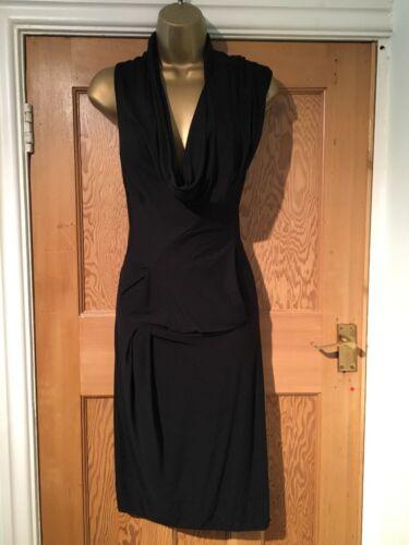 Bodycon All Draped Artemis Black Soft Jersey Dress Womens Saints 6 £120 Stunning YRrxHq4Y