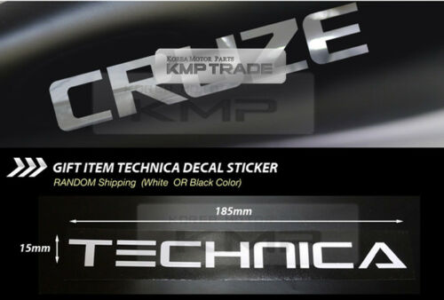 Rear Bumper Protector Decal Black Chrome Logo For CHEVROLET 2008-14 Cruze Sedan