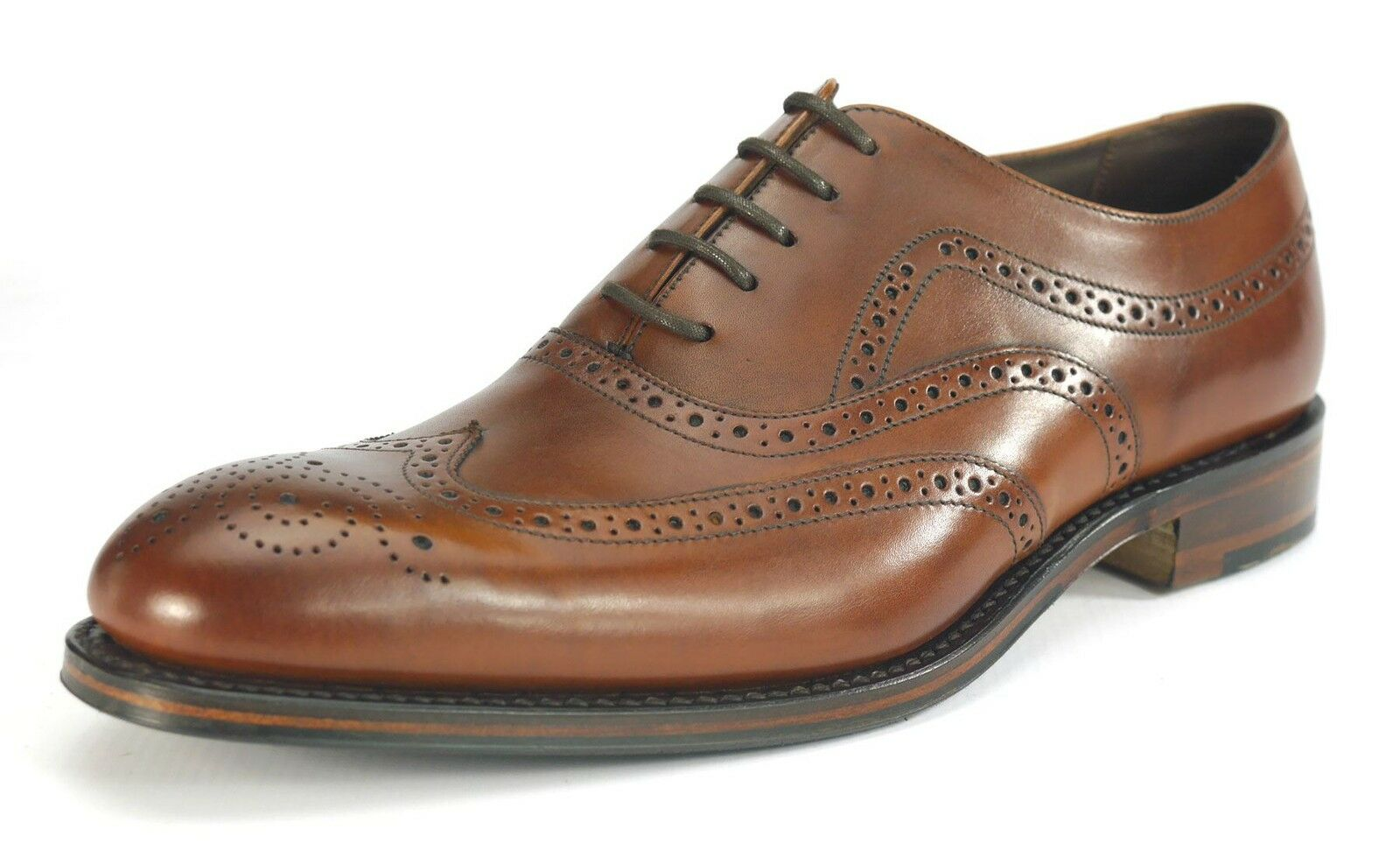 Loakes Heston Goodyear Welted Brown Mens Lace Up Brogue shoes