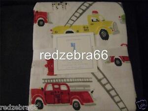 Image Is Loading Pottery Barn Kids Firetruck Full Sheet Set Flannel