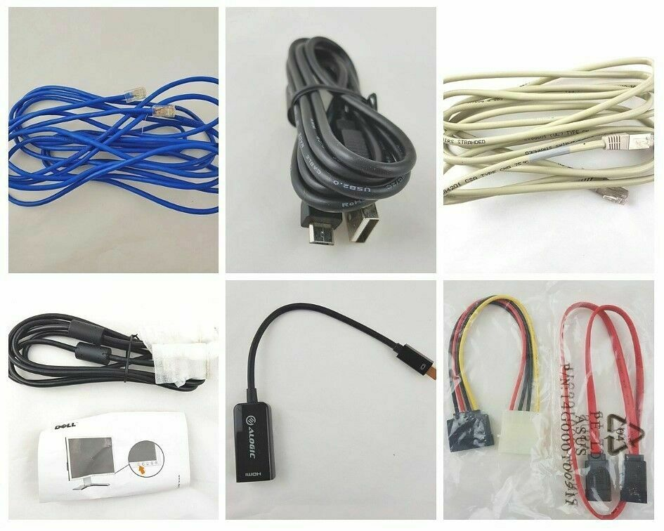 Bulk Lot of USB Cable wires Computer Monitor Connector Telephone Power Network