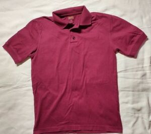 Boys-Solid-Maroon-Collared-Top-Size-XL