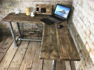 Handmade L-Shaped Corner Desk Industrial Reclaimed Scaffold 150cm x 150cm