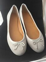 Jcrew 10 Classic Suede Gray Ballet Flats In Box Retail $79.50 - Size 10