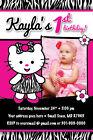 Zebra Print Dress Any Age 1st Birthday Party Invitation CUTE Photo Teddy Kitty