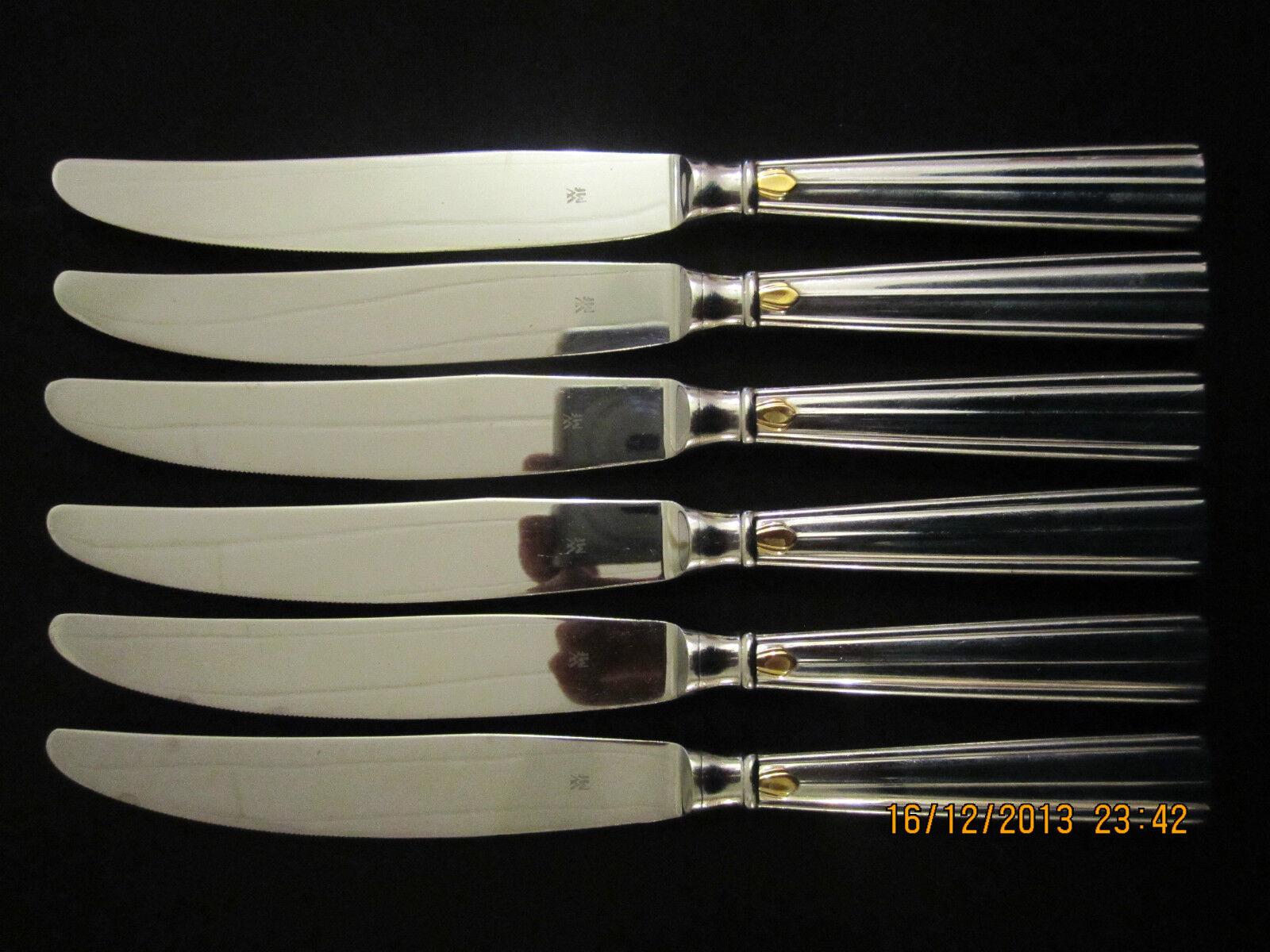 Wmf 6 ODEON menümesser Cromargan 6 pièces 23,3 cm note 2 tableau Couteau Couteau top