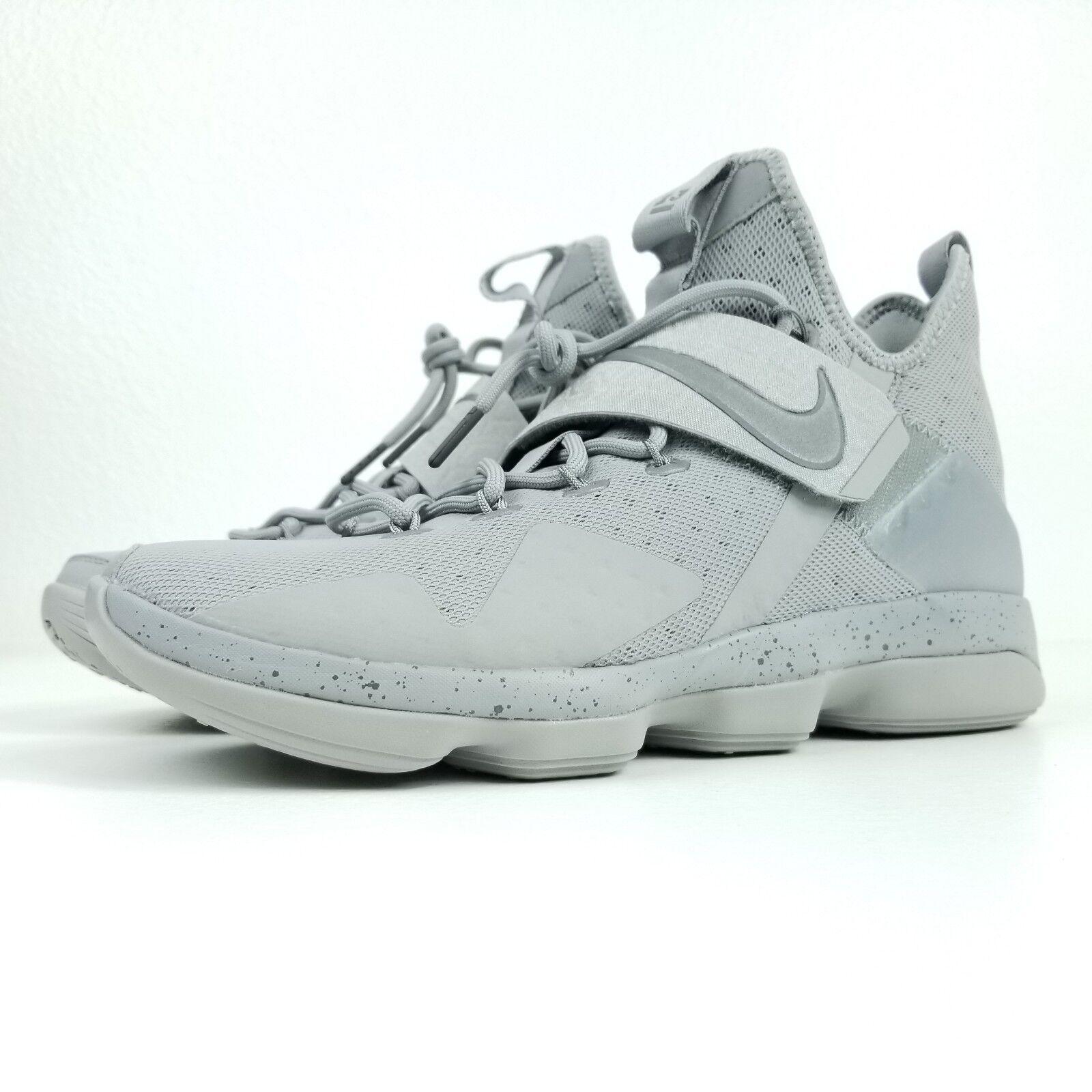 NIKE Lebron James XIV Mens Sz 10.5 Basketball Shoes Gray Silver 852405 007