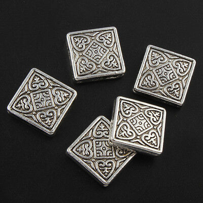24 Tibet Silber Quadrat 20mm Diagonal Metallperlen Spacer Schmuck MODE F11#3