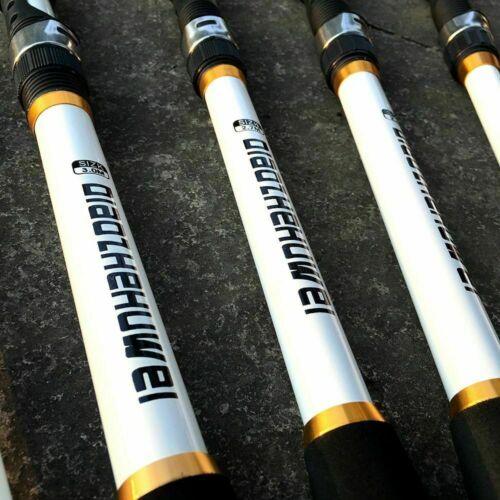 Canne à Pêche en Fibre De Carbone Voyage Pole Portable Spinning Télescopique Leurre Feeder