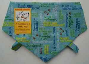 Details about Handmade Dog Bandana  Blue, Cute Dog Sayings! Premium Cotton,  Tie on, 7 Sizes!