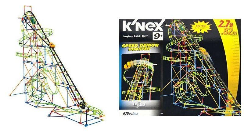 K'nex - Speed Demon Roller Coaster & K'nex K'nex K'nex - All American Roller Coaster - READ 67501a