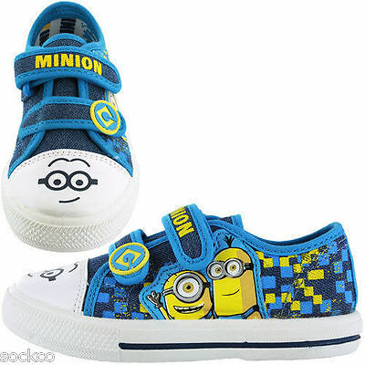 Despicable Me Minions Trainers Boots Shoe Sizes 6-1 Canvas Boys Girls