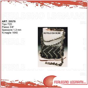 CATENA 72D CASTOR rojoOLO DA 30,5M PASSO 3 8  SP. 1,3 1640 MAGLIE ART. 20579