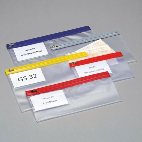 Gleitverschlusstasche aus transparenter PVC-Folie B 20 cm x H 15 cm
