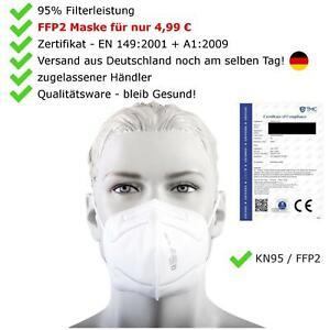 Mundschutz KN95 FFP2 Maske Atemschutz Schutzmaske Blitzversand EN Zertifikat