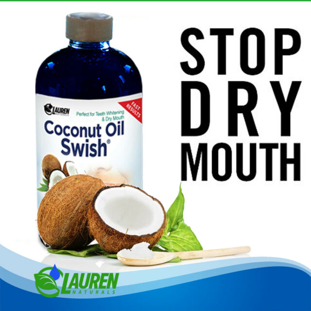 Coconut Oil Pulling and Mouthwash - 8oz for Teeth Whitening Dry Mouth