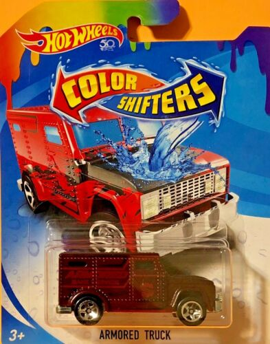 Hot Wheels 2018 Color Shifters ARMORED TRUCK Red / Black DKF92 See Pkg Cond