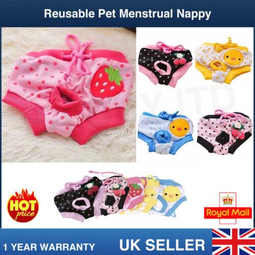 Reutilizables mascota perro Pantalones perra menstrual femenino Sanitaria Pañal Pañal Almohadillas de S-L