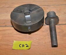 """Vintage Union 6"""" three jaw Class A South Bend lathe morse taper spindle tool"""