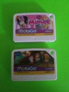 2012-DISNEY-MobiGO-VTech-Minnie-Mouse-Lot-Learning-Cartridges-Jack-Neverland