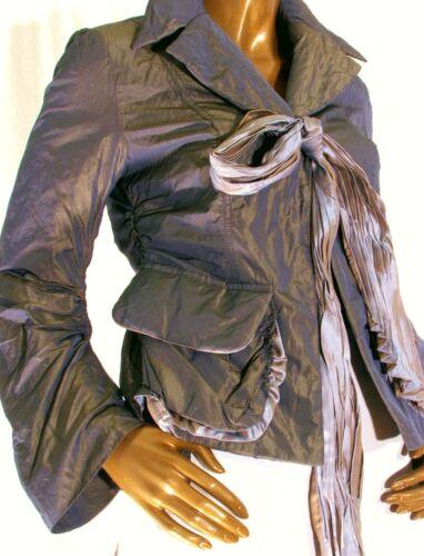 Peplum Tone Uk12 maat M Voor Gothic stropdas Black jas Two Groene Metallic 8qwzgg1p