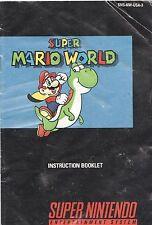 [MANUAL] Nintendo SNES Super Mario World Instruction Booklet Water Damaged
