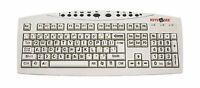 Ablenet Large Print Usb Computer Keyboard For Visually Impaired... Free Shipping