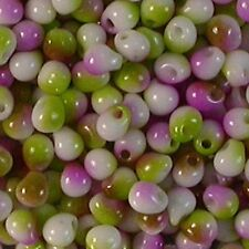 Japanese Miyuki Seed bead Drops 3.4mm White Opaque Funky Orchid