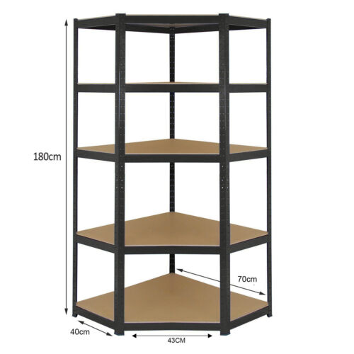 Metal Storage Shelves 5 Tiers High Boltless Shelves Utility Retail Shop Display