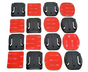8x Flat & Curved Base 3M Adhesive Pad Mount Kit for GoPro Camera 5 6 7 8