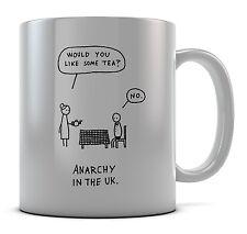 Tea Anarchy In The UK. Mug Cup Present Gift Coffee Birthday